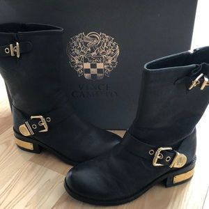 Vince Camuto Moto Boots, Leather, size 5.5